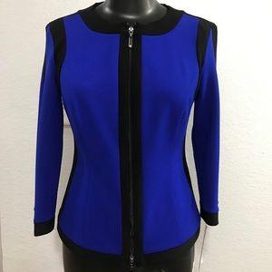 NWT Joseph Ribkoff Ladies Jacket Royal Blue  Sz 4